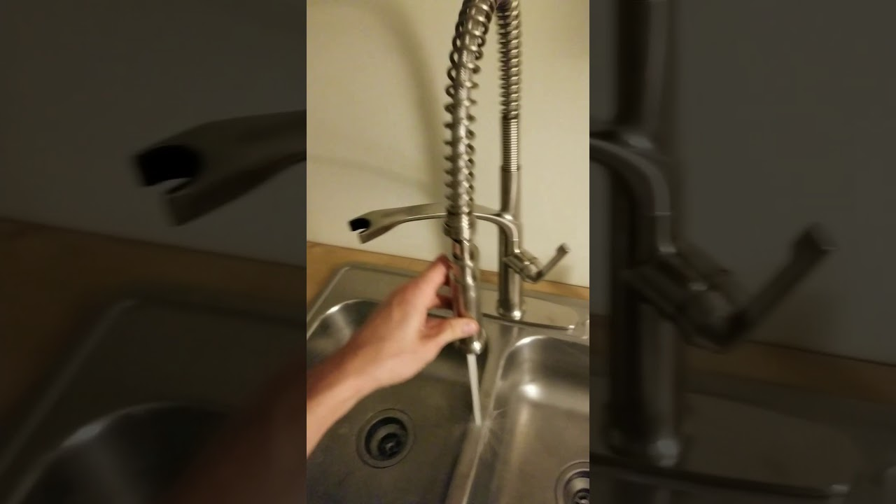 Marzano kitchen faucet by Giagni (from Lowes) PD230-SS - YouTube