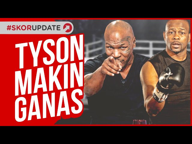 MIKE TYSON MAKIN BRUTAL, ROY JONES JR KETAKUTAN !!!