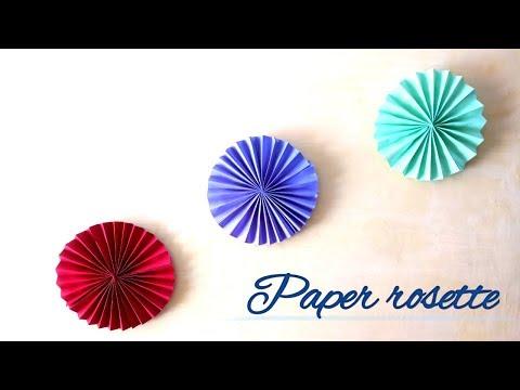 Paper rosette/ DIY Birthday decoration