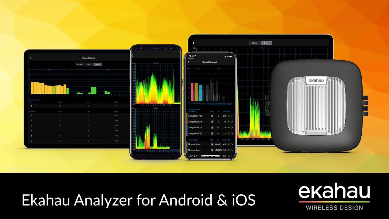 Ekahau Analyzer for Android & iOS | 60-Second Overview
