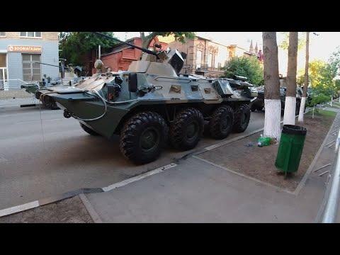 Военная техника заняла два квартала в центре Самары в ожидании Парада Победы