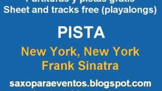 Partitura y pista de New York, New York de Frank Sinatra