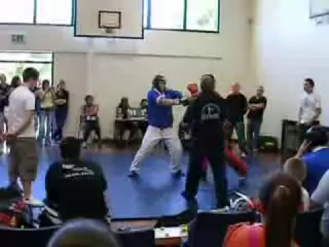 Sonny King fighting Continuous at the Kettering Fighting Fit Academy Interclub