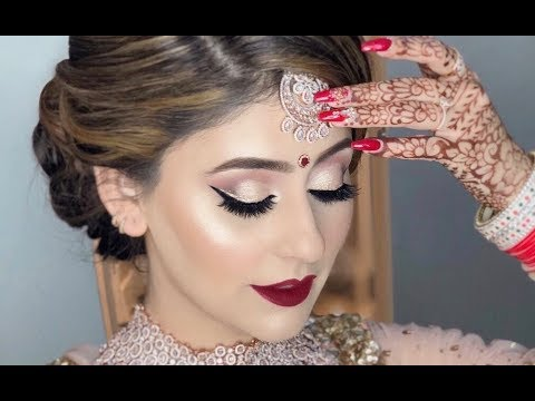 Real bride l Indian/Pakistani/Bangladeshi/South Asian bridal makeup l Makeup on client 2019