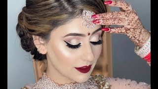 Real bride l Indian/Pakistani/Bangladeshi/South Asian bridal makeup l Makeup on client 2019