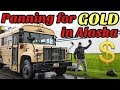 Gold Panning in Alaska! | Did we find anything? #alaska #goldpanning #skoolie