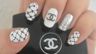 Chanel inspired nail art design | two methods on making the chanel logo