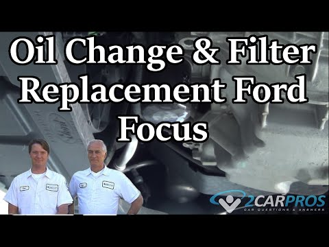 Oil Change & Filter Replacement Ford Focus 2004-2010 - YouTube