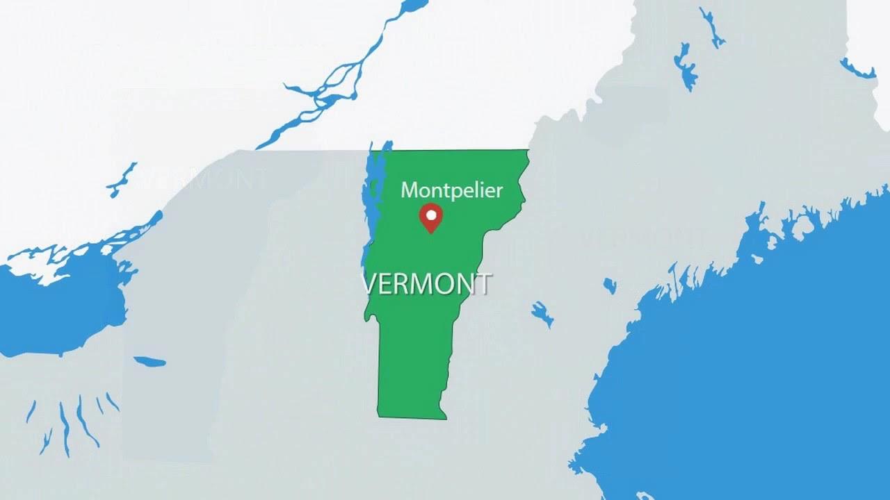 Vermont USA PowerPoint Maps USA Maps YouTube - Usa maps vermont