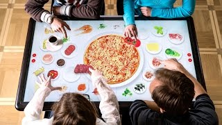 Interactive, Multi-touch Table for foodservice and retail industries by Kodisoft