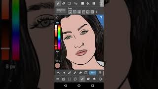 How to Color a Drawing on Medibang for Beginners!