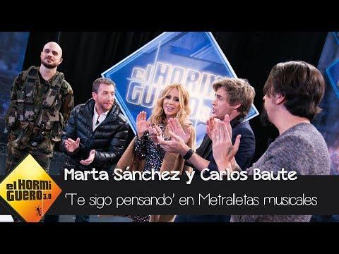 'Te sigo pensando' de Carlos Baute y Marta Sánchez interpretado con metralletas - El Hormiguero 3.0