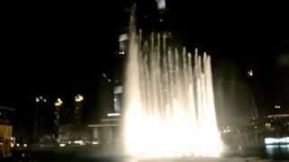 Dubai fountain - I will always love you - نافورة دبي