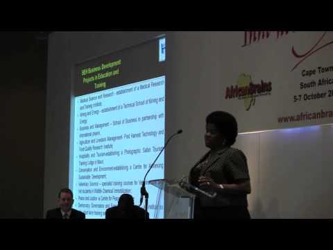 Hon Pelonomi Venson-Moitoi - Minister of Education, Botswana - Innovation Africa Summit 2012