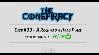 Criminal Case - The Conspiracy, Case 33 - A Rock and a Hard Place