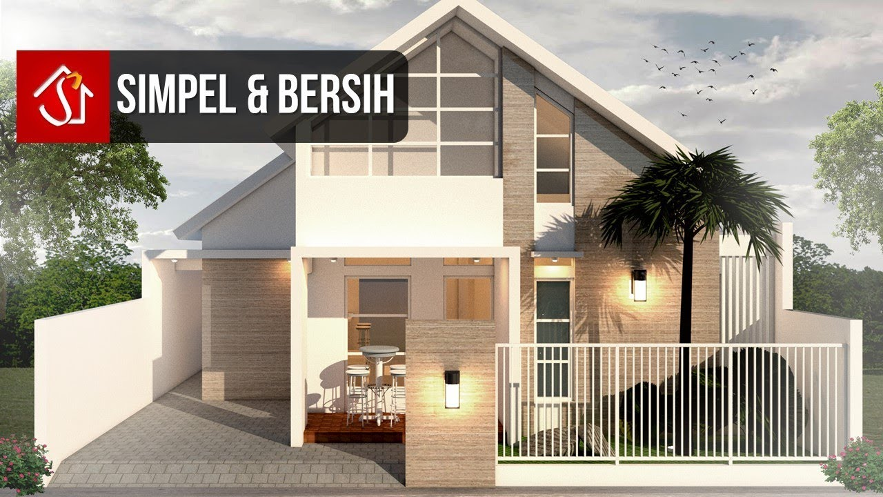 Rumah 1 Lantai Modern Tropis 3 Kamar Tidur Youtube