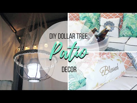 DIY DOLLAR TREE PATIO DECOR