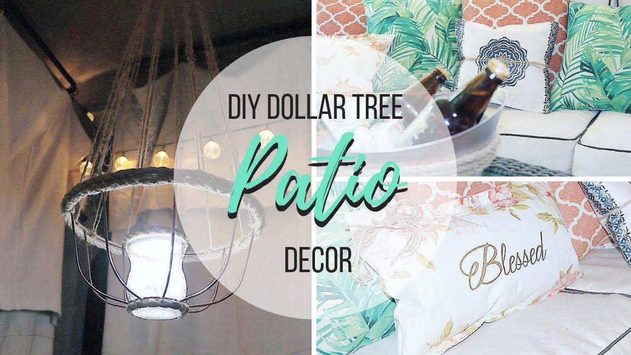 diy dollar tree patio decor