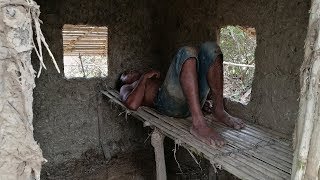 Primitive Daily life: Build primitive mud house (using bamboo and mud) - part end