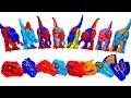 쥬라기월드 레고 공룡 블럭 장난감 머리 맞추기 놀이 - 티렉스 딜로포사우루스 인도미누스 렉스 카르노타우루스