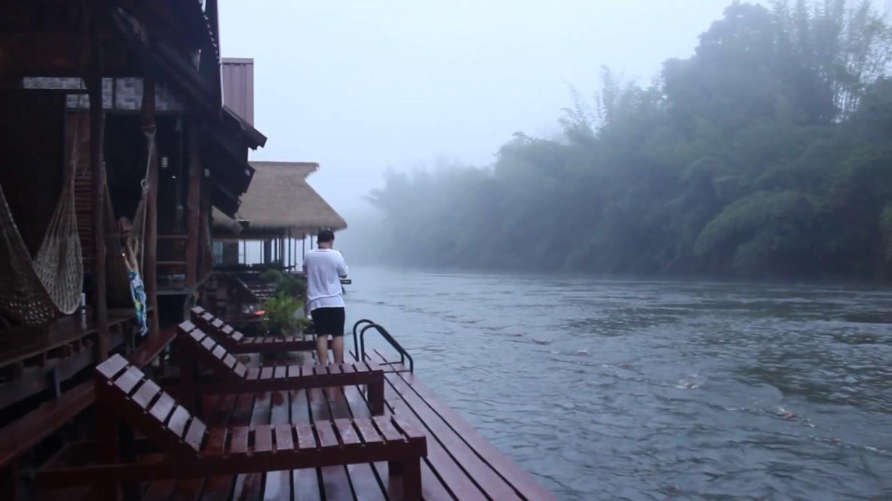 ล่องแพกาญจนบุรี แพริมน้ำ ชิลๆ ชิคๆ เอาเท้าแช่น้ำ @วังนกแก้ว ริเวอร์วิว