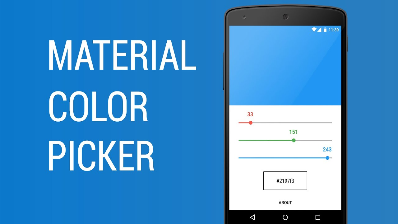 Material Color Picker Demo - YouTube