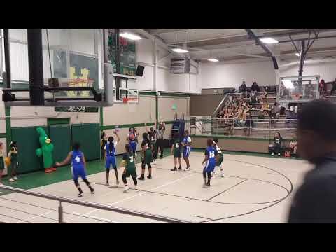 Harry Hurst (green) vs Albert Cammon Middle School
