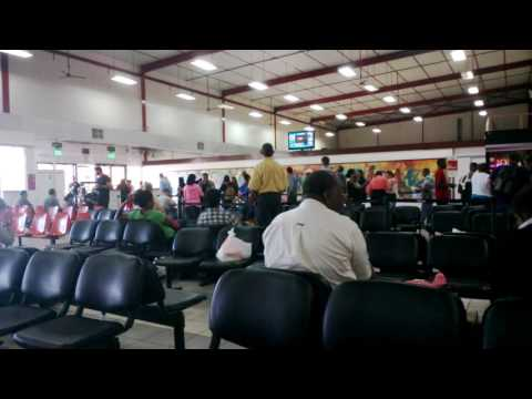 Boarding call for Surinam Airways flight 9917 from Paramaribo to Cayenne and Belém