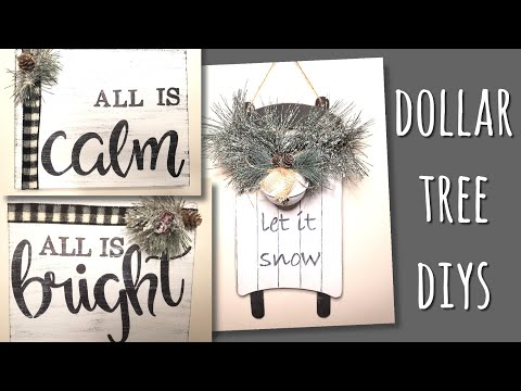 DOLLAR TREE DIY BLACK AND WHITE BUFFALO CHECK FARMHOUSE CHRISTMAS DECOR!!!
