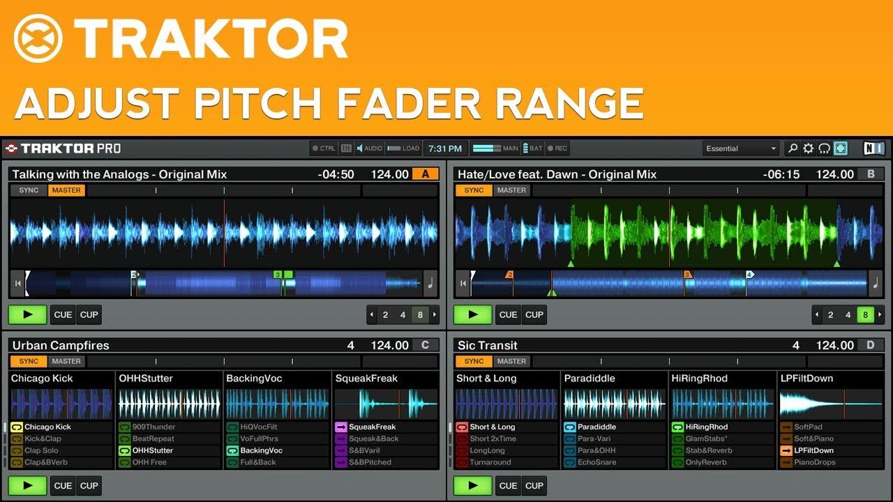 traktor pro 2 tutorial how to adjust the pitch fader range youtube rh youtube com Native Instruments Traktor Pro 2 Native Instruments Traktor