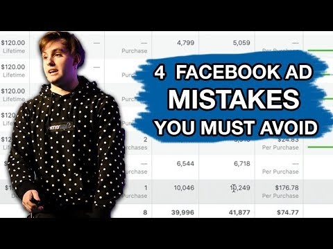 4 Mistakes With FaceBook Ads You Must Avoid