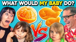 Can PARENTS Guess What Their BABY Will Eat? | What Would My Kid Do? (React)