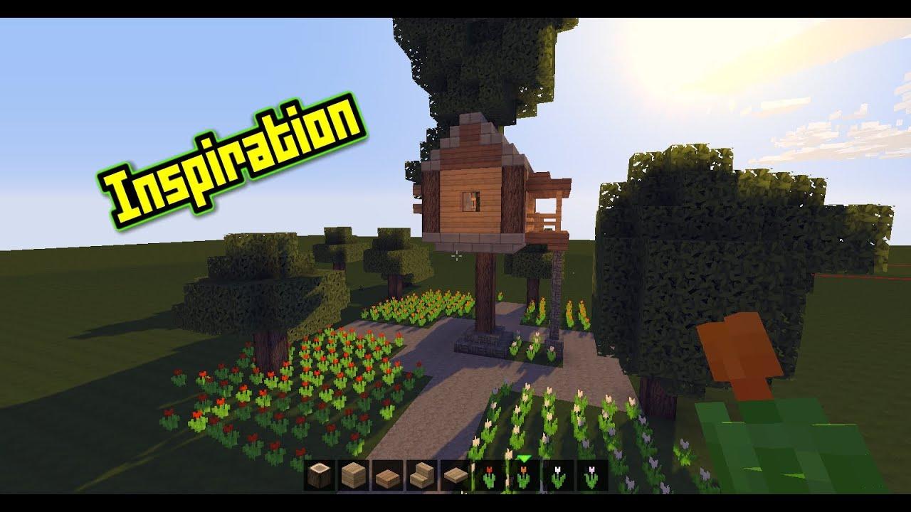 Minecraft | Inspire Yourself! | #001   Das Kleine Schöne Baumhaus | [Letu0027s  Build] [HD]
