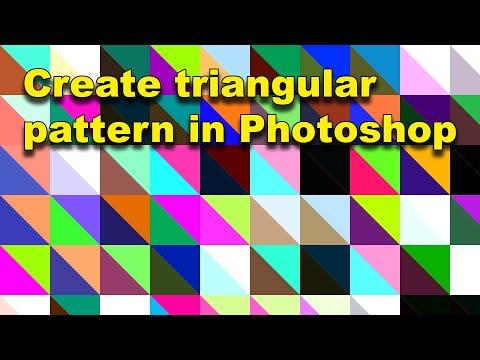 Photoshop : Random Triangular Color Pattern Tutorial
