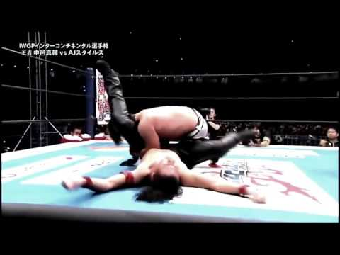 AJ Styles vs Shinsuke Nakamura Highlights  Wrestle Kingdom 10 1 4 16