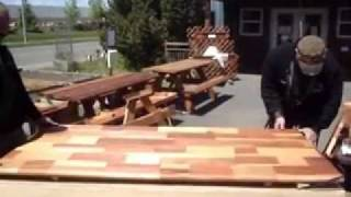 Redwood Picnic Table Assembly