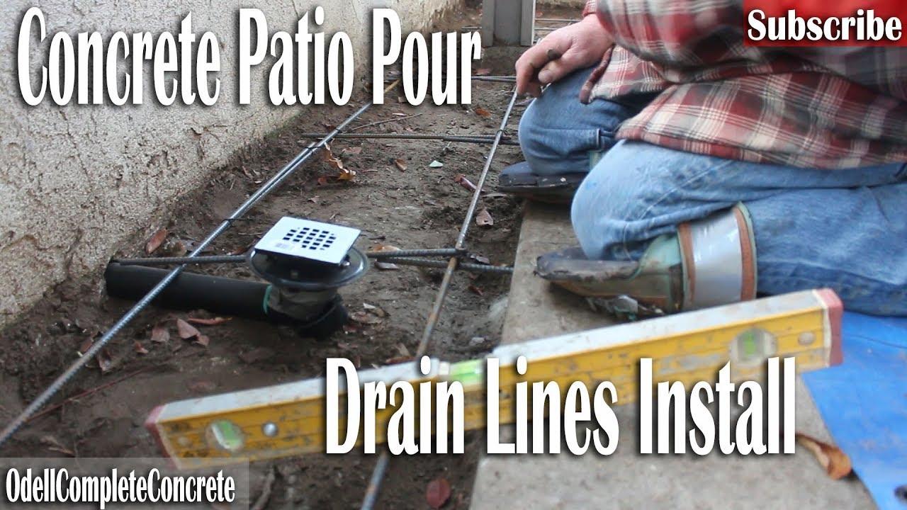 how to pour a concrete backyard patio and install drains rh youtube com