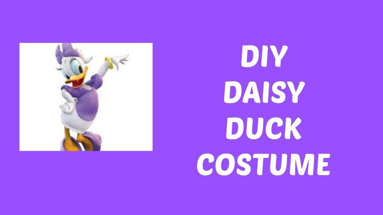 912eafe225d DIY Daisy Duck Costume - YouTube