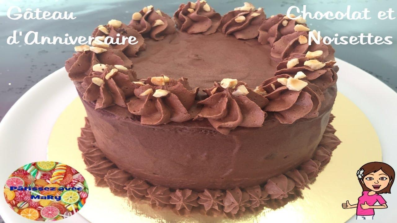 Gateau Danniversaire Chocolat Et Noisettes Pâtissez Avec Mary