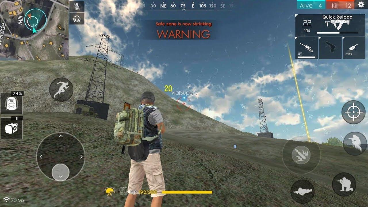 Free Fire Battlegrounds Battle For First Drop  Kills Vs Squads