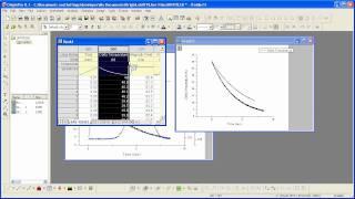 Graphing: Origin: Creating a Graph Part 1 - Add Data using Drag-n-Drop