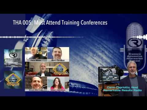 THA 005: Must Attend Training Conferences