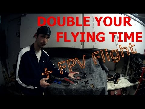 Double Quadcopter Flight Time: Speed Mods + FPV Flight