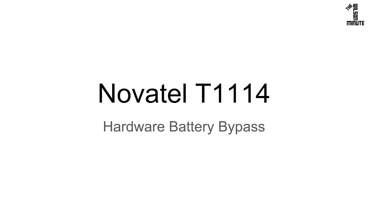 Verizon Novatel T1114: Hardware Battery Bypass