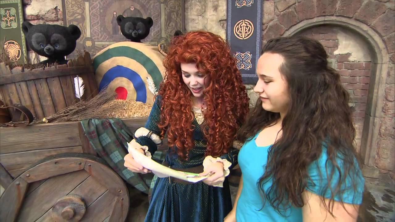 Merida Meet And Greet At Disney World From Disney Pixars Brave