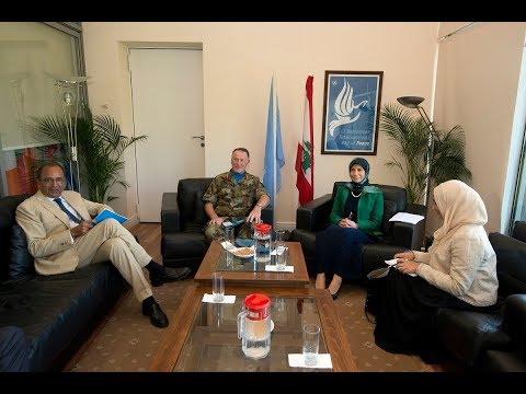 Lebanese Minister of State for Administrative Reforms visits UNIFIL Headquarters