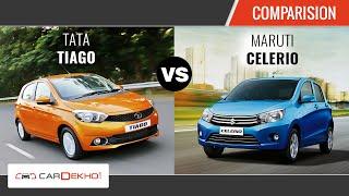 Maruti Celerio vs Tata Tiago | Comparison Review | CarDekho.com