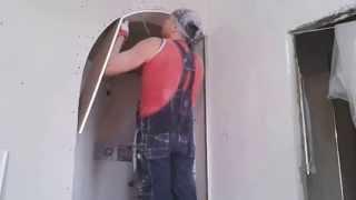 как сделать арки из гипсокартона видео