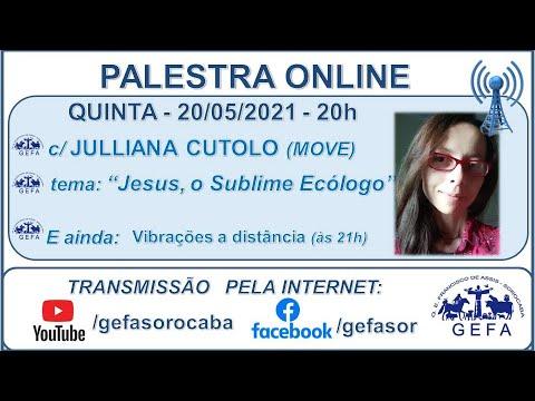 Assista: Palestra online - c/ JULLIANA CUTOLO (20/05/2021)