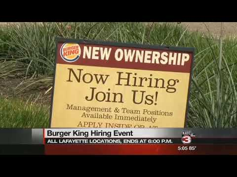 Burger King Franchisee with 20 Metro Lafayette Locations Now Hiring